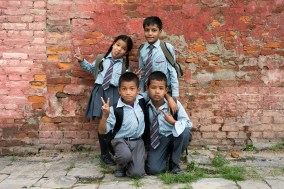 School pupils with attitude. Do you recognize any of these children from a previous blogpost?