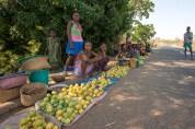 Road-side fruit sellers serving weary travellers