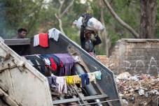Dumpster clothes-line