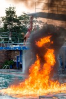 What happens when you put fire, water and two divers together