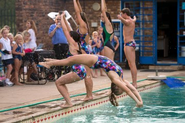 Backward diving drills