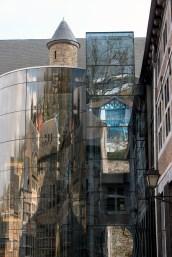 "Reflections on the side of the ""musée de la vie wallonne."""