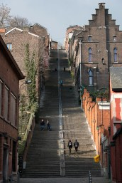 """The famous Montagne de Bueren steps, which we used to call """"the steps of hell"""" when we lived here. There are 374 steps (to be precise.)"""