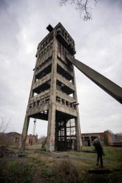 Shaft 3's concrete tower.