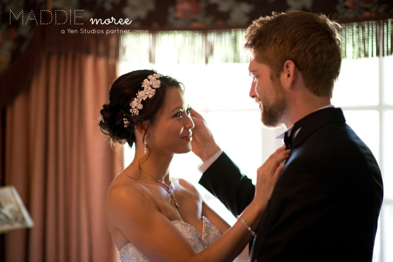 bride groom first look bonne terre