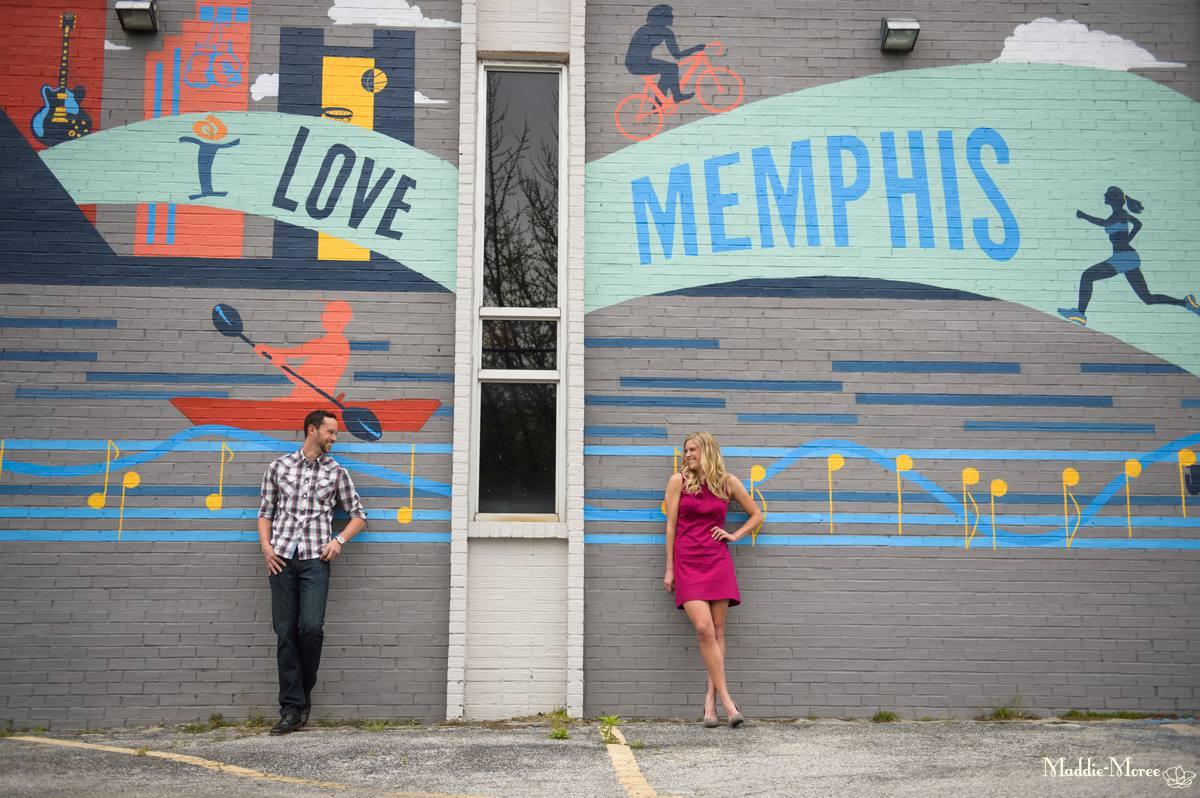 Unique memphis mural engagement