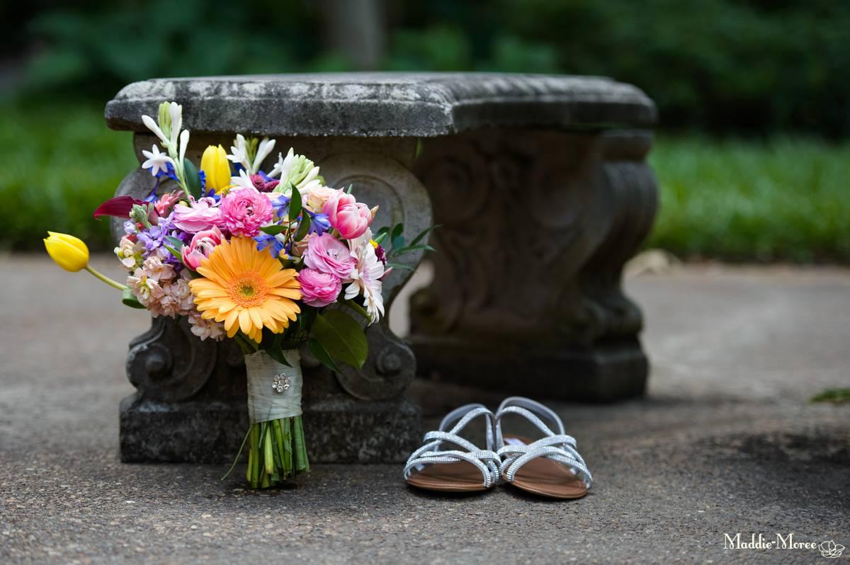 flower shoes details