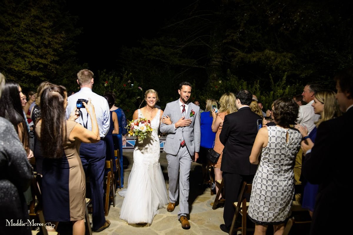 bride and groom recessional zoo