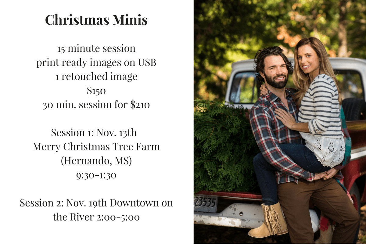 Christmas mini photos promo