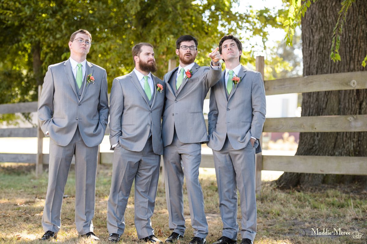 groomsmen being goofy
