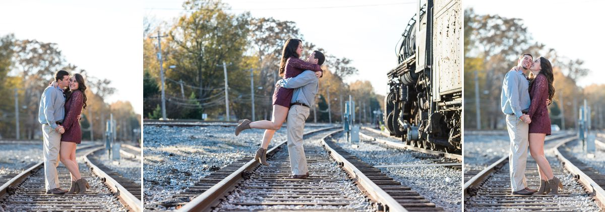 collierville square engagement 1