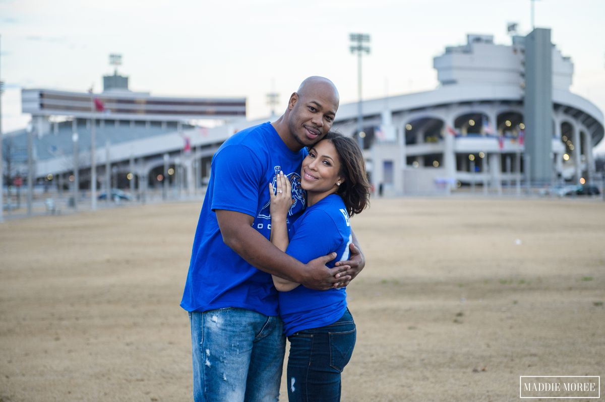 memphis football engagement