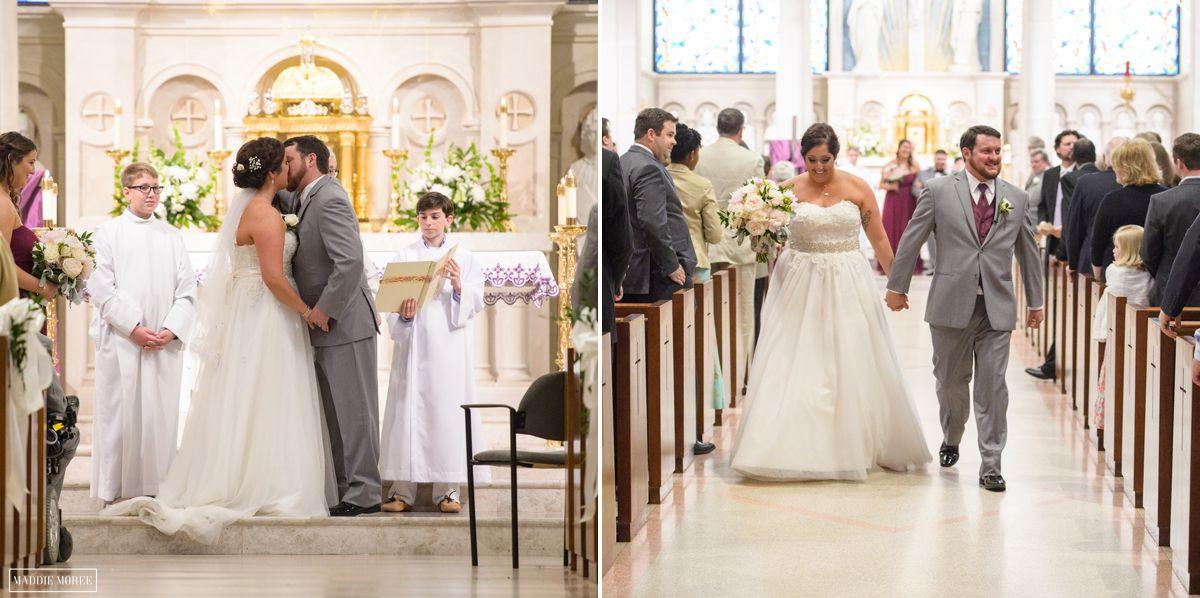 st louis catholic wedding ceremony maddie moree