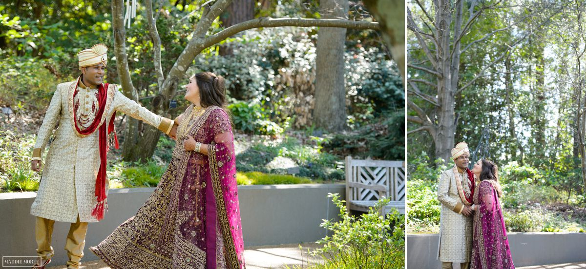 botanic gardens bride groom portraits