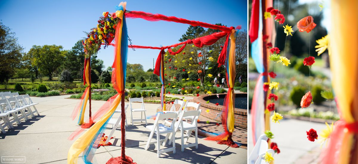 memphis botanic gardens indian wedding details