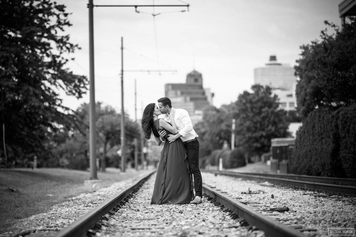 Derin Bryan Downtown engagement train tracks