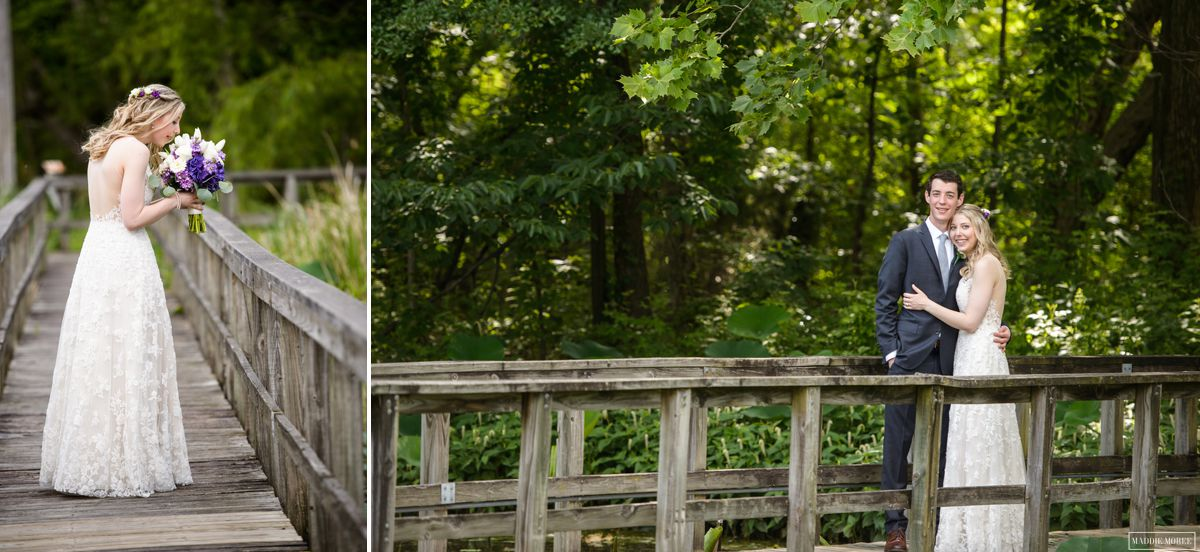 lichterman nature center wedding portraits