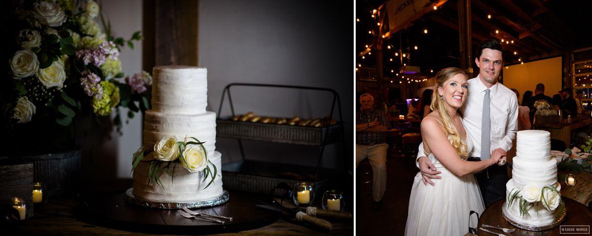 loflin yard wedding cake cut