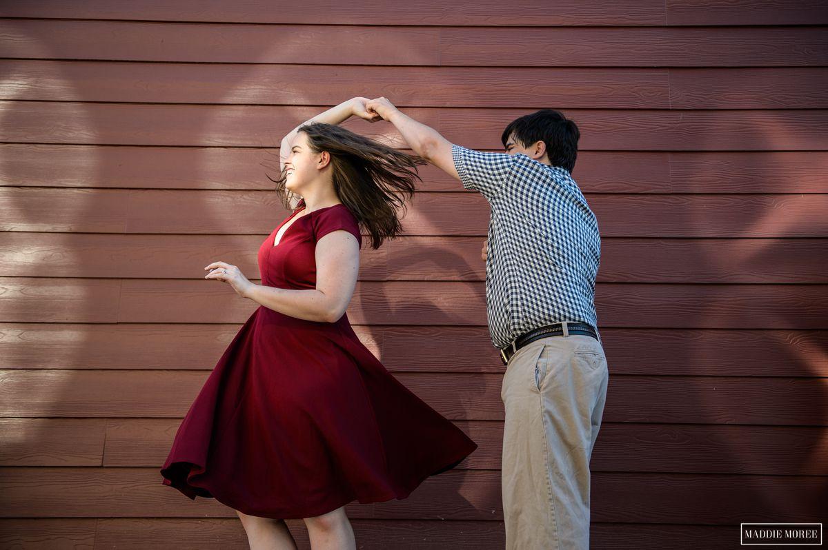 twirly photo engagement