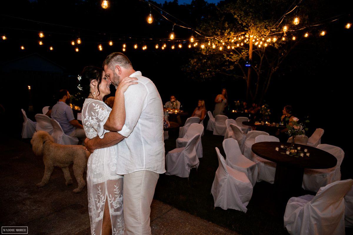 bride groom reception dancing
