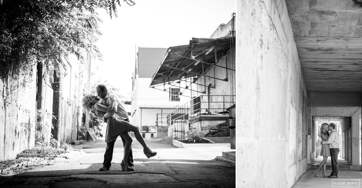 industrial style engagement memphis photography