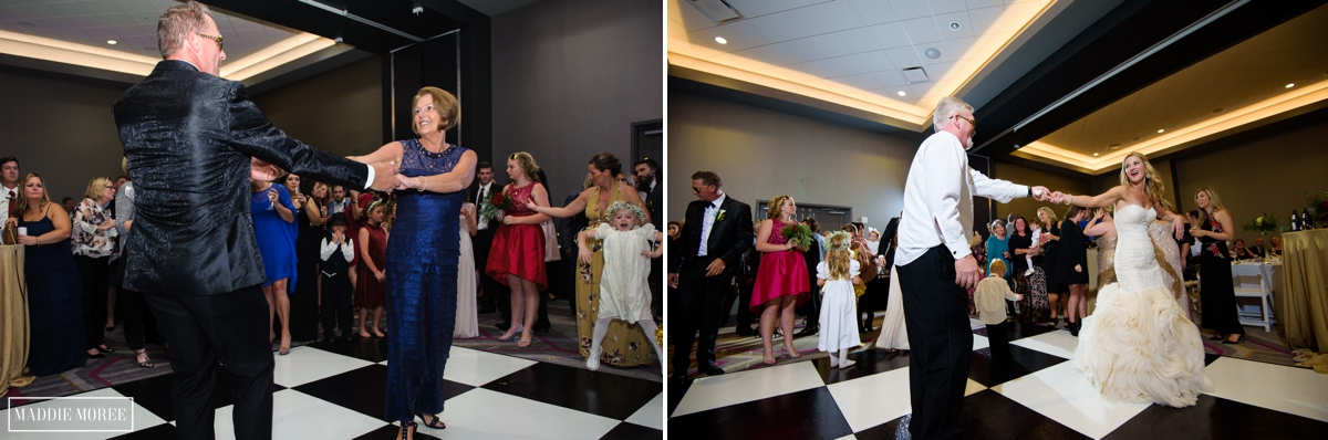 mother son father daughter wedding reception dance