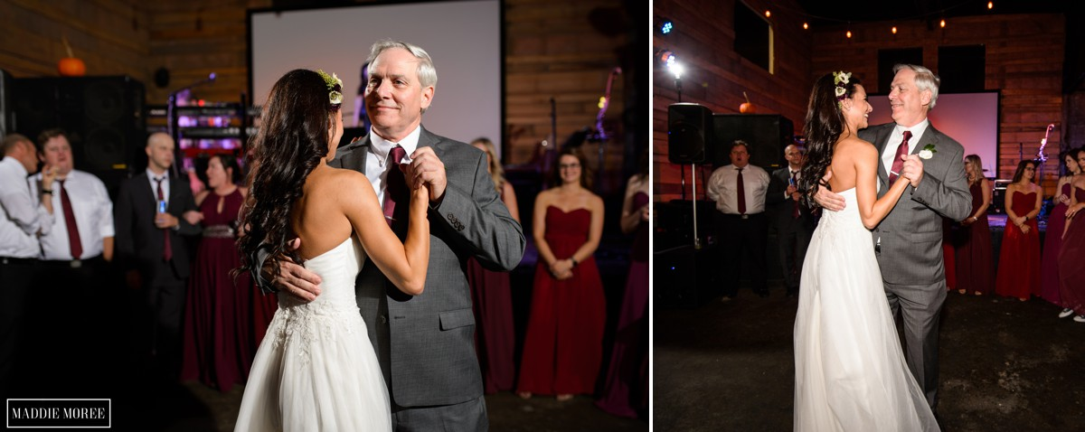 father daughter reception dancing
