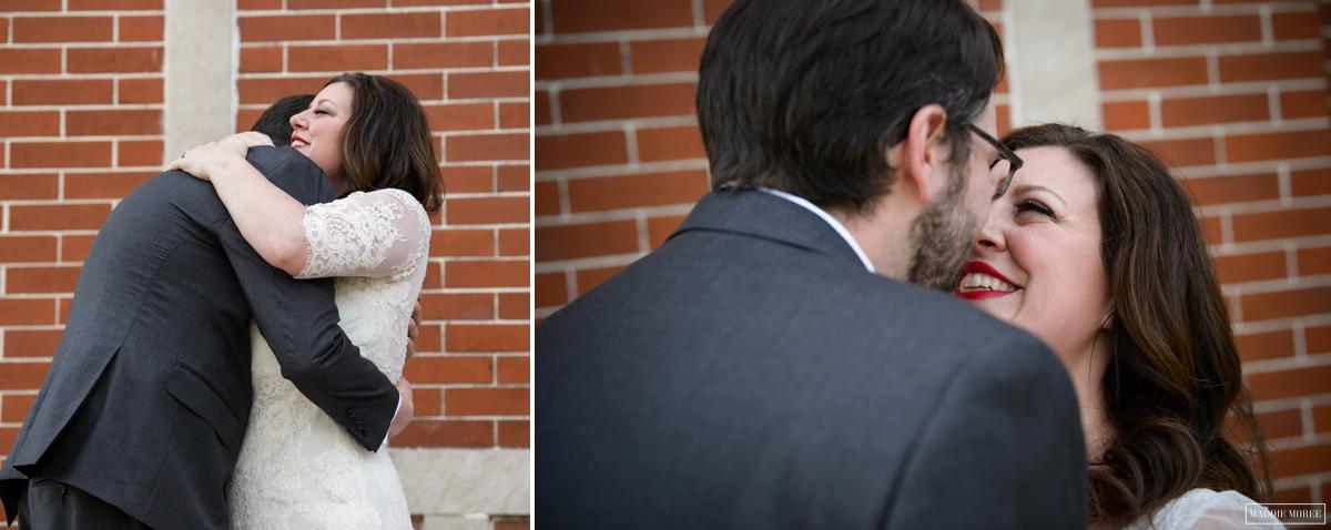bride groom first look portraits