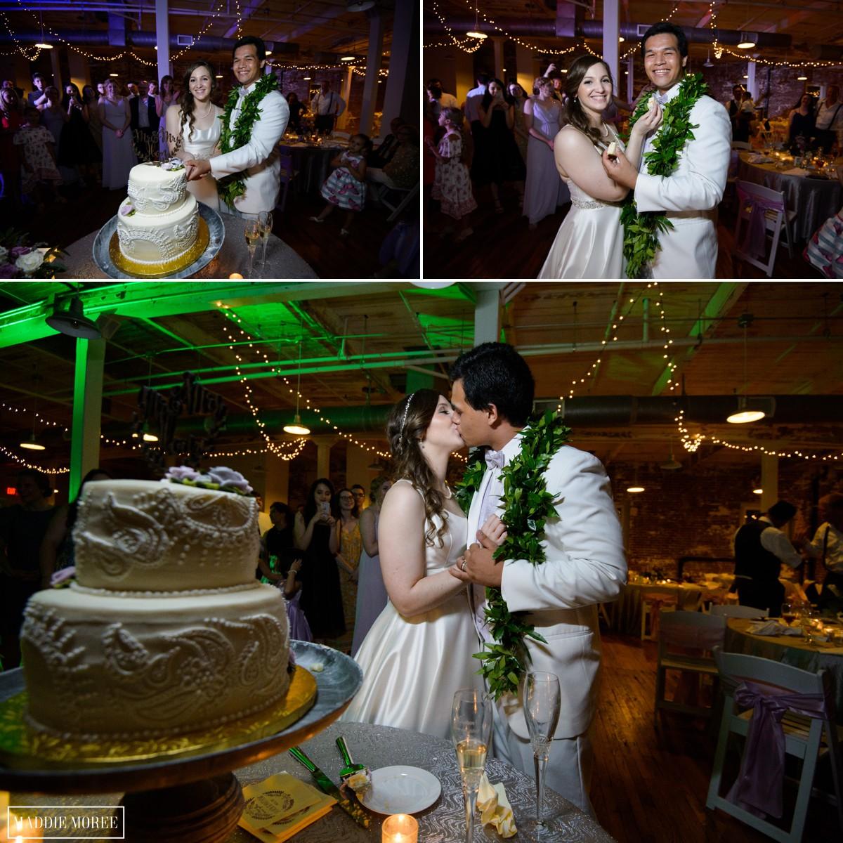 Wedding cake cut maddie moree