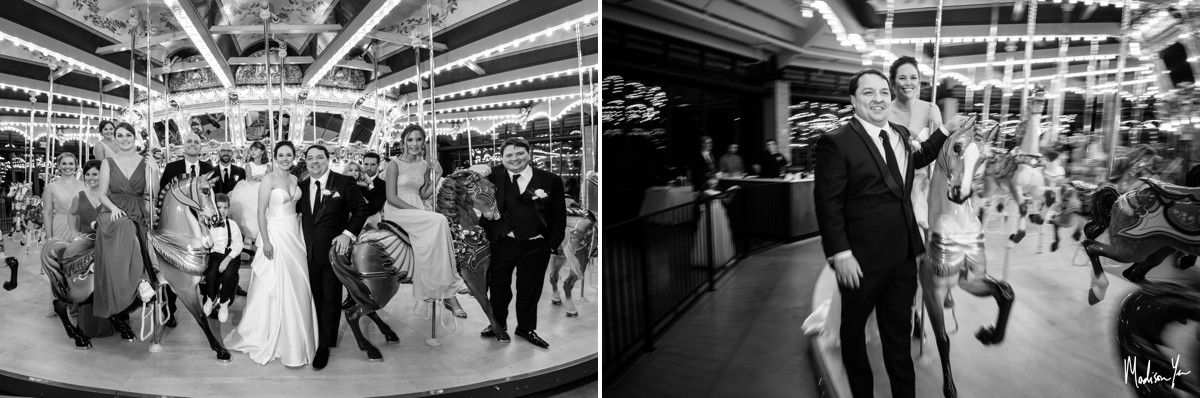 Childrens Museum of Memphis Wedding Maddie Moree carousel