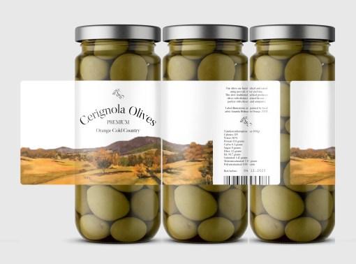 Olive Jar Labels