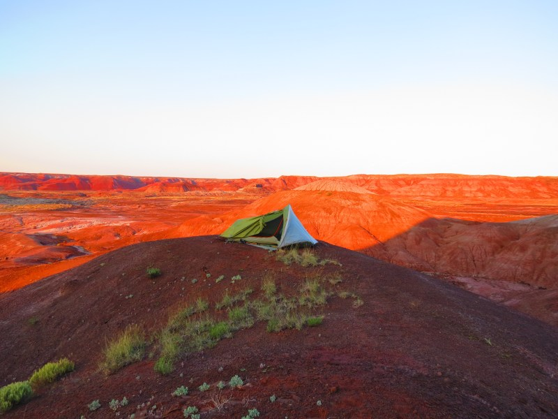 painted desert camping