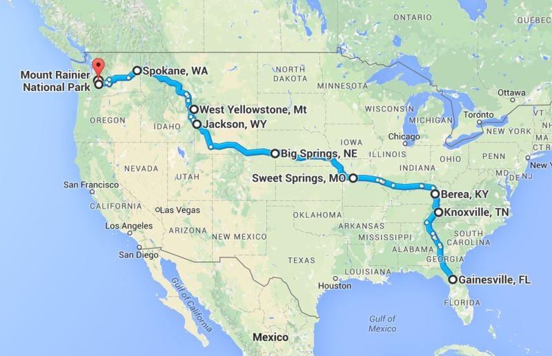 My First Cross Country Solo US Road Trip