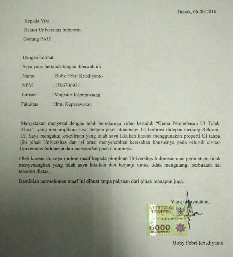 Surat Pernyataan Cerai Tulis Tangan