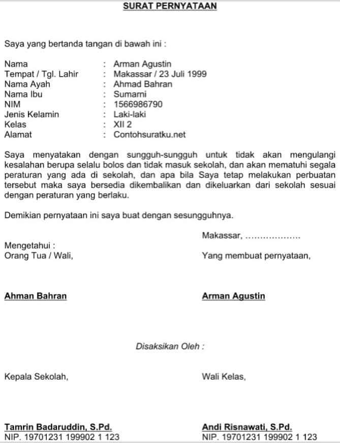 12+ Contoh surat pernyataan warga terbaru terbaru