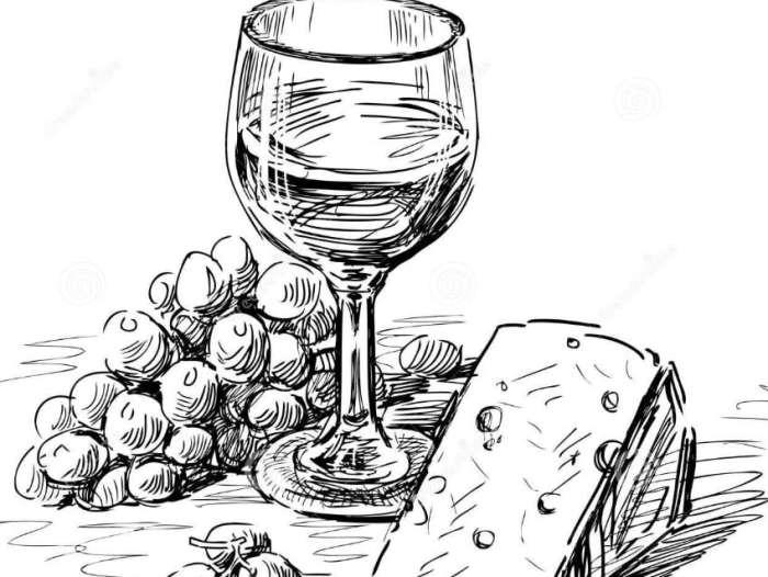 Gambar Sketsa Makanan dan Minuman