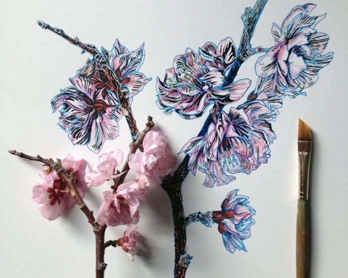 Contoh Gambar Ilustrasi Bunga