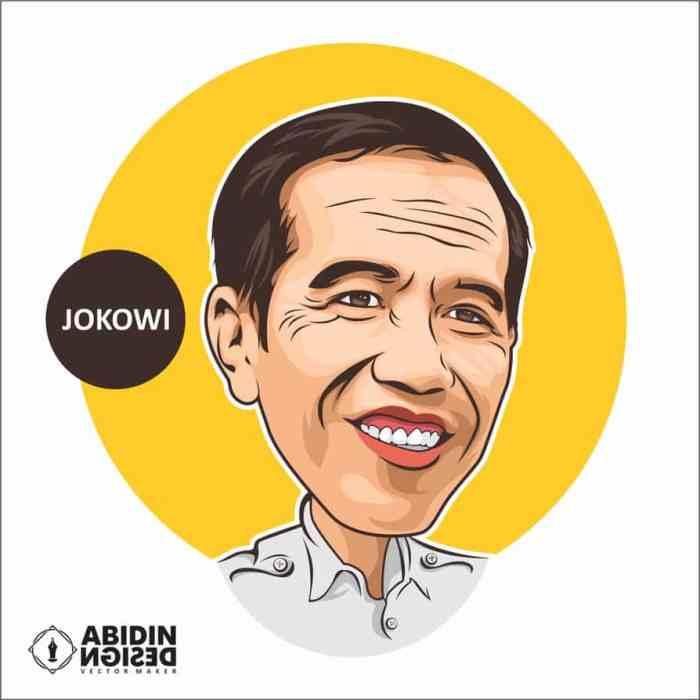 Gambar kartun presiden Jokowi keren