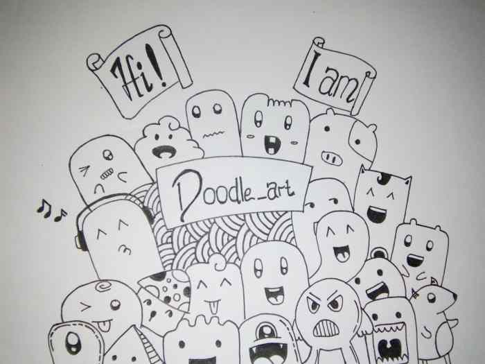 "Menggambar Doodle Dengan Tema ""Doodle Art"""