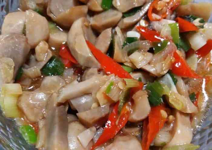 Resep tumis jamur merang