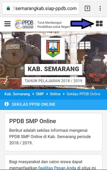 Halaman sekolah pilihan PPDB