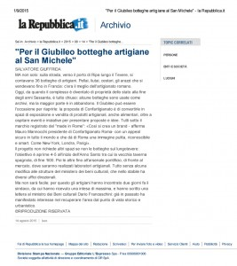 """Per il Giubileo bottegh...ele"" - la Repubblica.it"