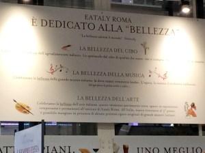 La bellezza per Eataly Roma