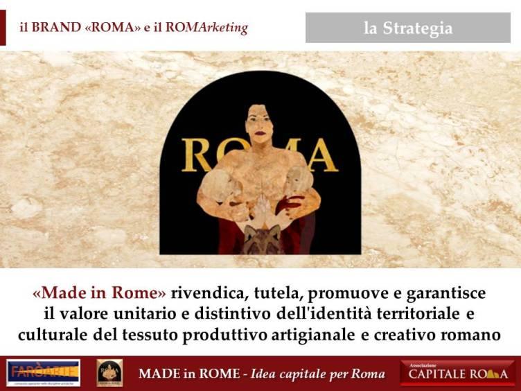 """il Brand """"Roma"""" e il RoMarketing per il Made in Rome"""