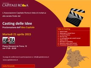 Invito proclamazione Idea capitale per Roma