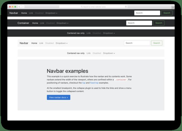 Navbar bootstrap 4 wordpress