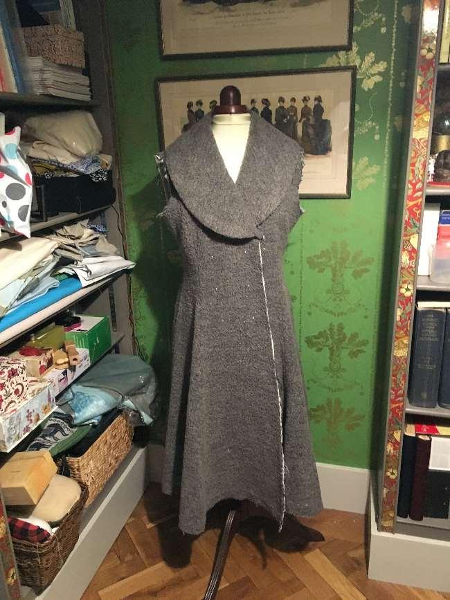 Coat on dressmaker's dummy