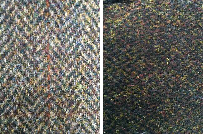 Harris Tweed - the range of colours incorporated into the weave is fantastic