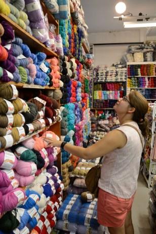 Que de laine, chez Romni Wools à Toronto