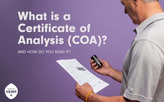 What is a certificate of analysis coa